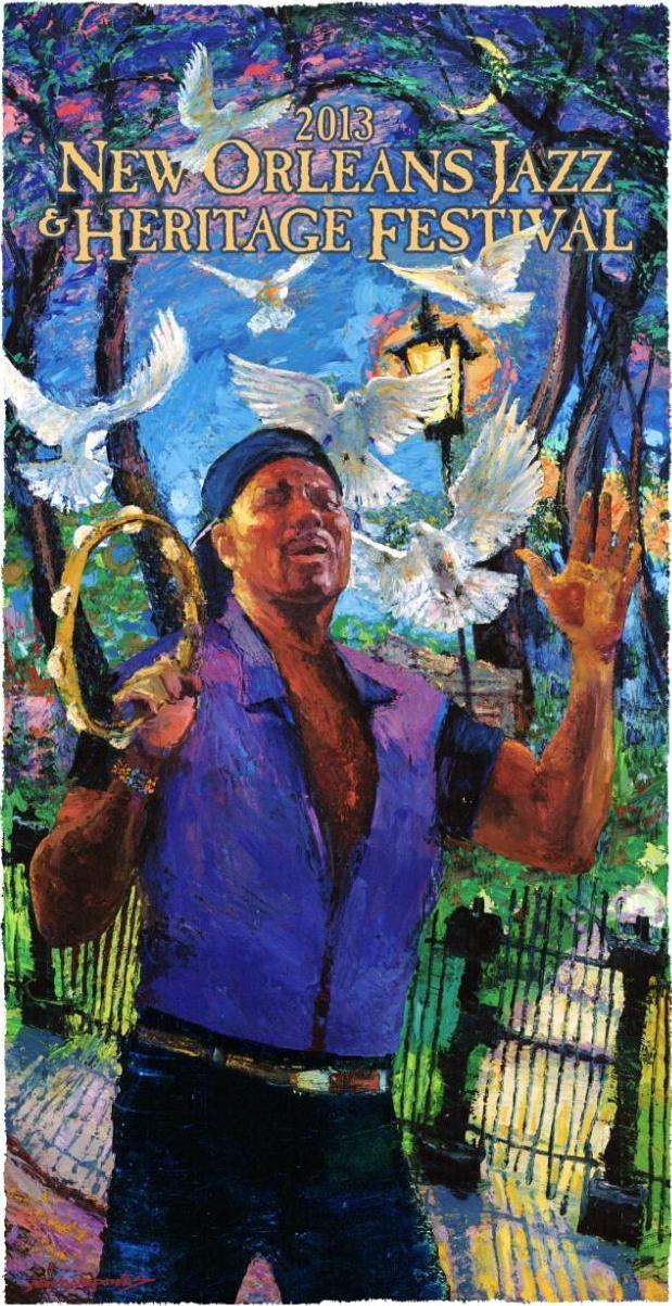 2010 New Orleans Congo Square Poster Postcard Uncle Lionel Batiste T Osbourne