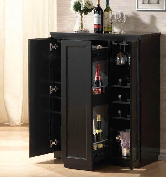 Ioanis Black Bar Cabinet 97020