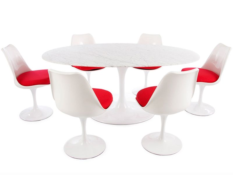 Table ovale Saarinen et 6 chaises   Googie, Space age and Spaces