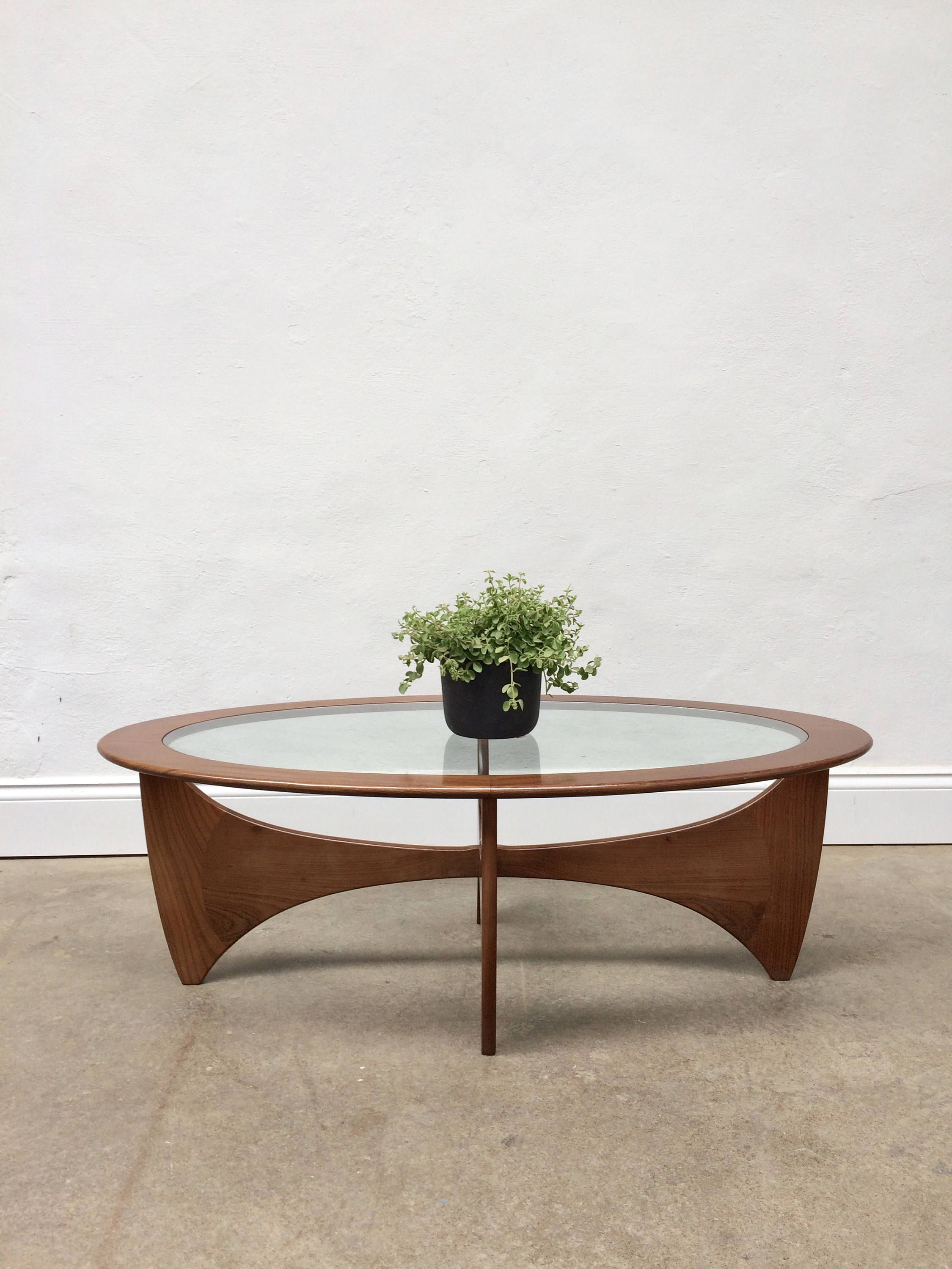 A Really Beautiful G Plan Oval Astro Coffee Table Made From Solid Teak And Glass A Stunning Ova Coffee Table Farmhouse Coffee Table Coffee Table Makeover