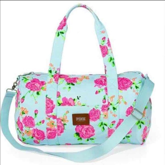 Victoria's Secret floral tote Are tote in great condition didn't even use offer PINK Victoria's Secret Bags