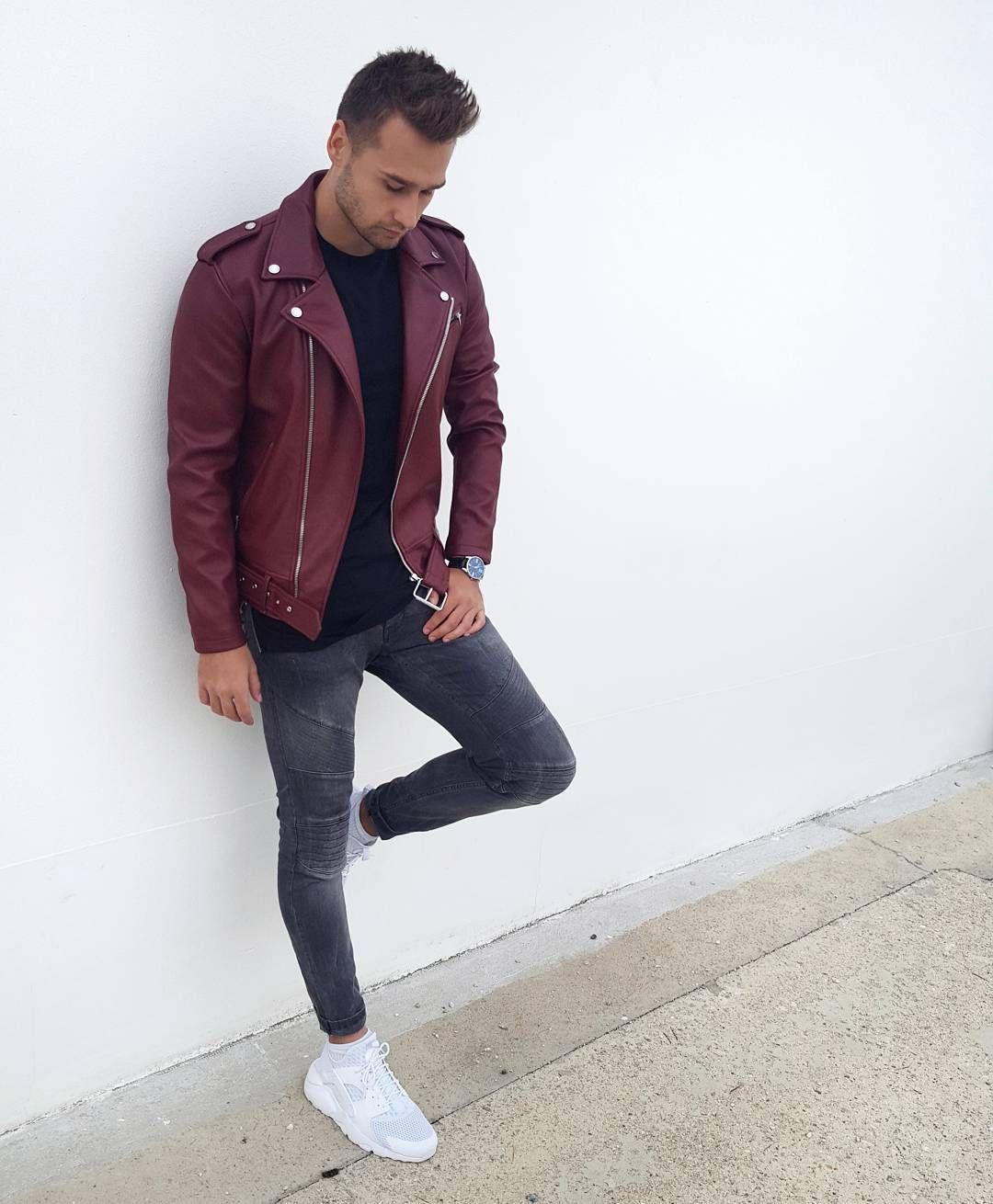 See This Instagram Photo By Matkohud 1 064 Likes Leather Jacket Leather Jacket Style Burgundy Leather Jacket [ 1310 x 1080 Pixel ]