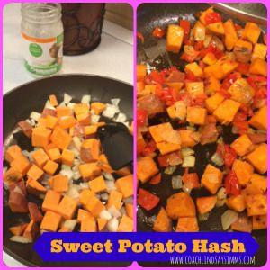 Sweet Potato Hash w/coconut oil #21DayFix