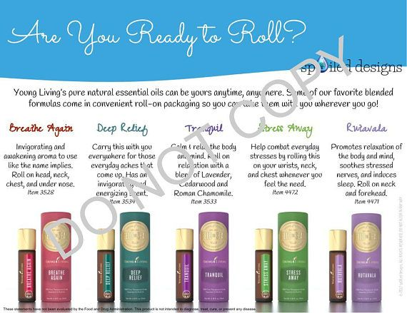 Young Living Roll On Graphic Bundle Breathe Again Deep