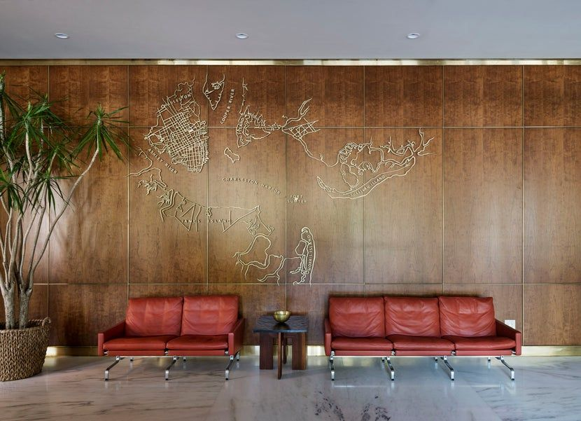 The Historic Lobby By Workstead On 1stdibs Living Room Bar Mid Century Modern Office House Styles