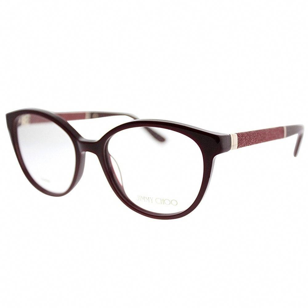 2719756b03 Jimmy Choo Round JC 118 KMN Women Burgundy Frame Eyeglasses