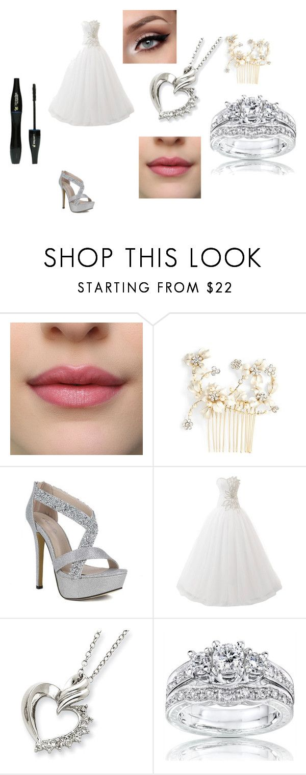 """""""Bride"""" by colleenm-jones ❤ liked on Polyvore featuring Wedding Belles New York, Kobelli and Lancôme"""