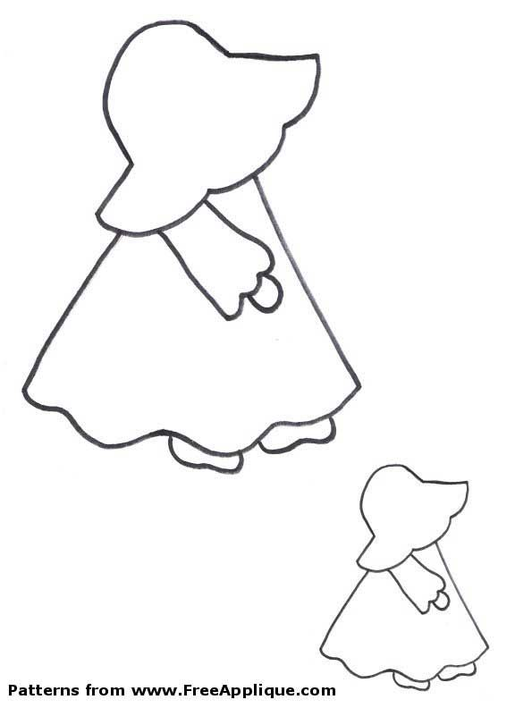 Free Applique Patterns | Free Sunbonnet Sue patterns to use as