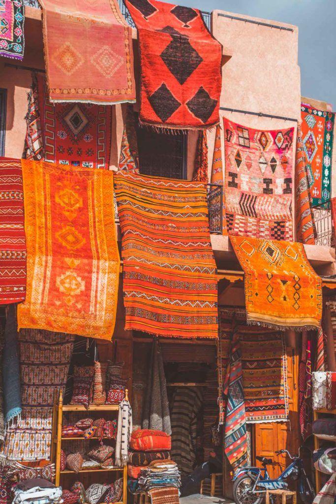 Carpets, Souk, Medina Marrakech, Morocco