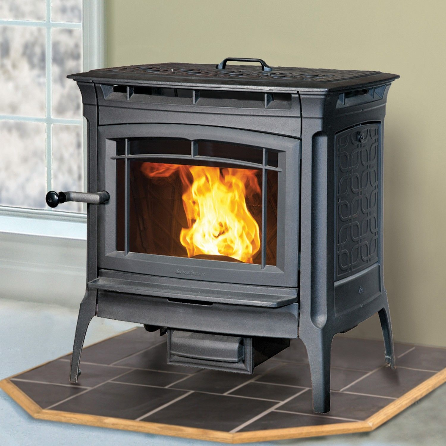 hearthstone heritage 8091 pellet stove in matte black available at
