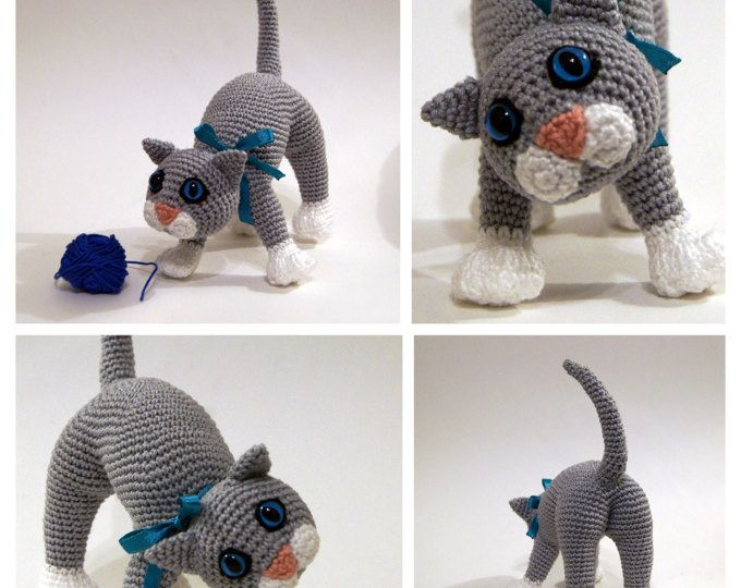 Amigurumi Kitten Patterns : Crochet cat crochet kitten amigurumi cat playful kitten