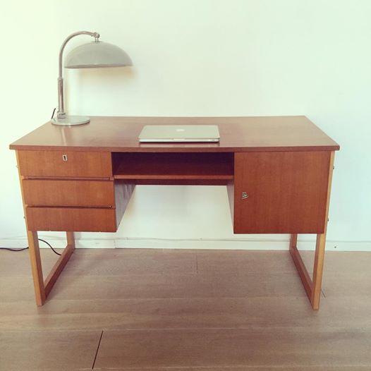 vintage jaren 60 70 design bureau desk koning bert
