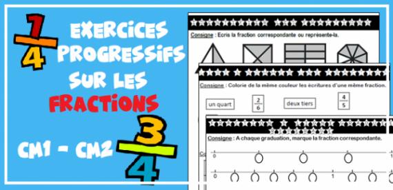 Exercices CM1 CM2 : les fractions - Profissime - Ressources pour la classe | Exercice cm1, Cm1 ...