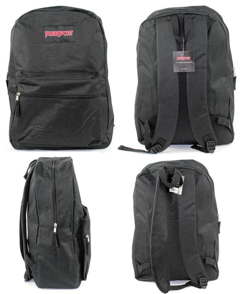 Details About 17 Classic Puresport School Backpacks Black Case