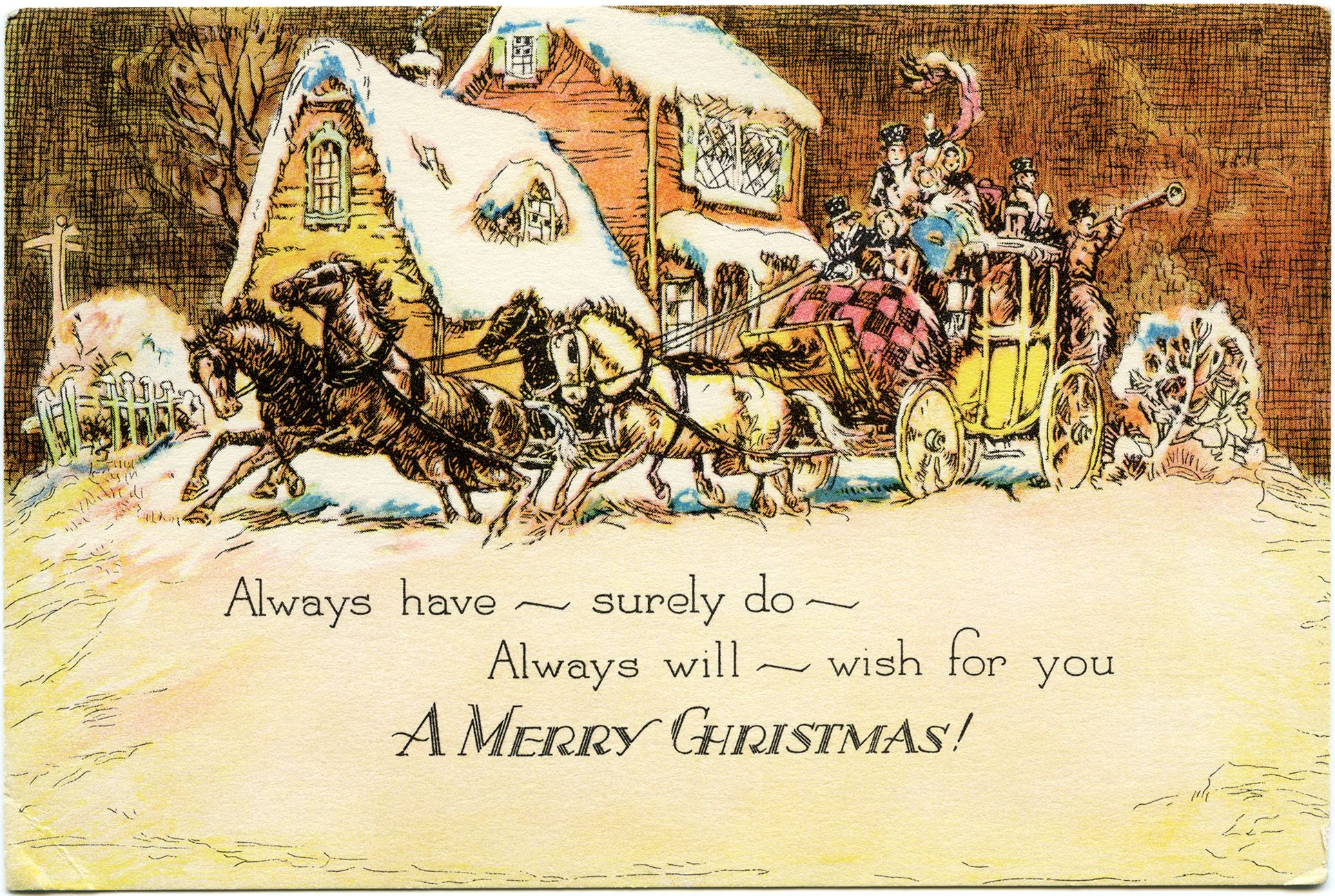 Old-Fashioned Winter Christmas Scenes | ... , old fashioned ...