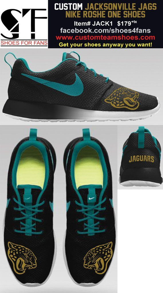f50b952d561c Jacksonville Jaguars Nike Roshe One CUSTOMIZATION AND RESERVATION ...
