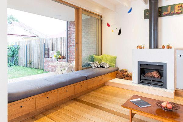 large, double glazed windows that are all wood framed in Tasmanian Oak