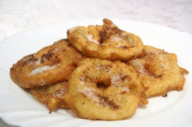 Apfelringe gebacken