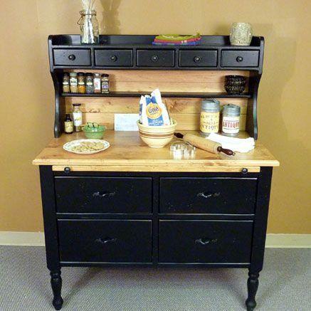 Southern Pine Missouri Baking Cabinet