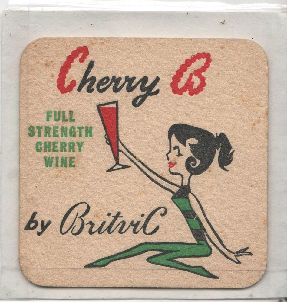 round coaster Cherry B retro /'Beermat/'