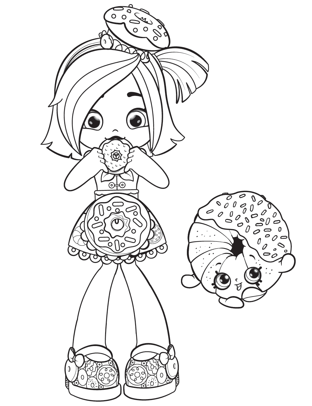 Shoppies Coloring Pages Shopkins Shopkin Colouring