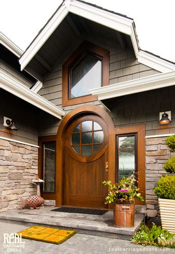 This Is A Custom Made Semicircle Top Arched Entry Doors Front