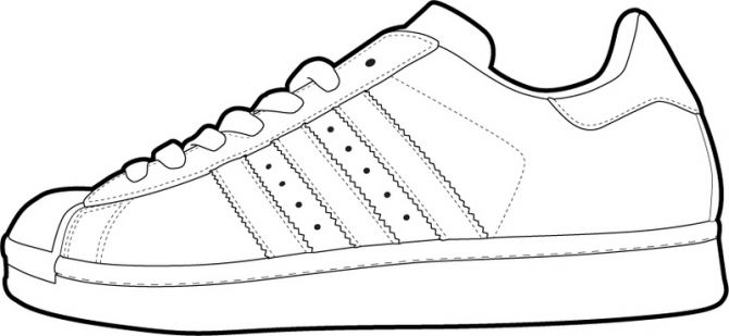 Created vector illustrations of shoe templates for use by online users .