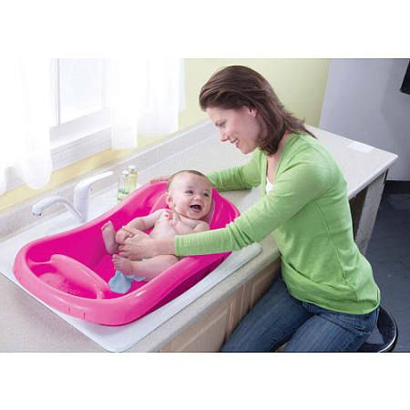 The First Years Sure Comfort Deluxe Newborn to Toddler Tub, Pink All ...