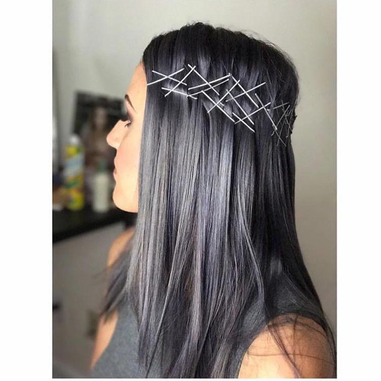 Charcoal Gray Hair Instagram Trend   hair inspiration ...