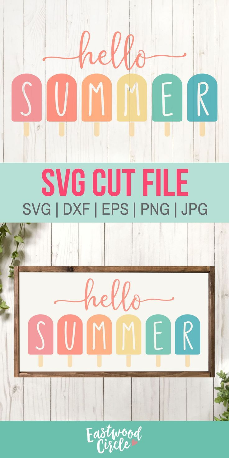 Hello Summer svg, Hello Summer Popsicle svg, Summer svg, Summer Sign svg, Summer svg Files, Summer svg Files for Cricut, svg Files, dxf, png