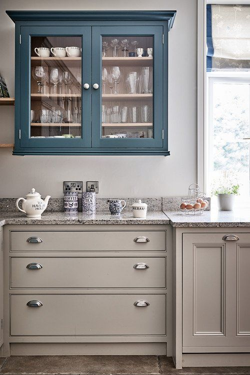 Blue and Gray Country Kitchen Kitchen Country Blue Farmhouse Kitchen