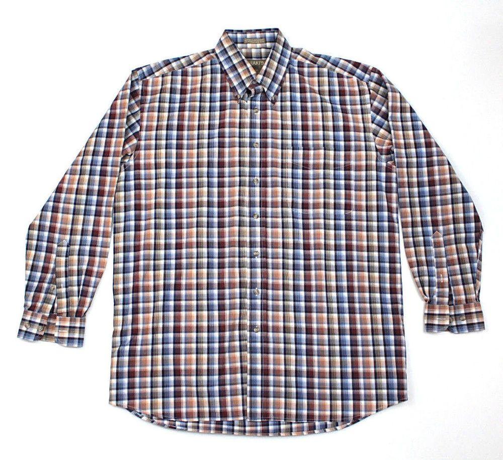 WNSY Men Button Down Casual Plaid Long Sleeve Cotton Shirts