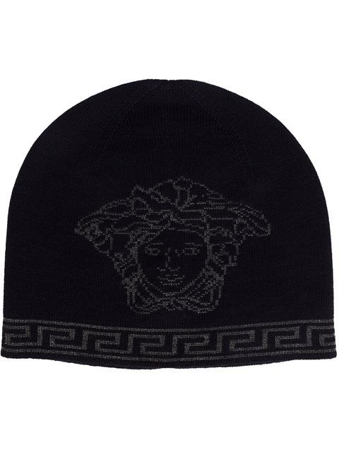 4a2f5655eb1 Shop Versace Medusa Greca beanie in David Lawrence from the world s best  independent boutiques at farfetch.com. Shop 400 boutiques at one address.