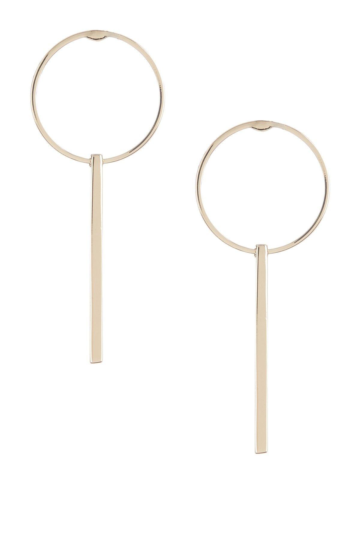 0565c66a5ffee Bar Drop Hoop Earrings | Geometric | Hoop earrings, Union bar, Earrings