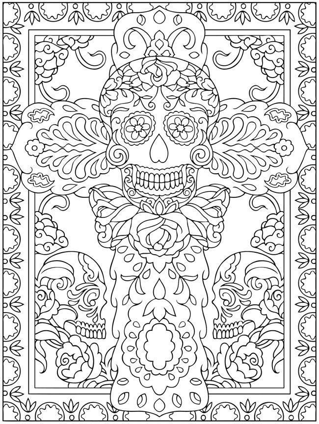 Dia Los Muertos Coloring Sheets