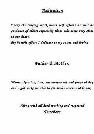Sample Dedication In Thesis Writing To Note That Dedication Page | Essay  Writing, Thesis Writing, Writing Services