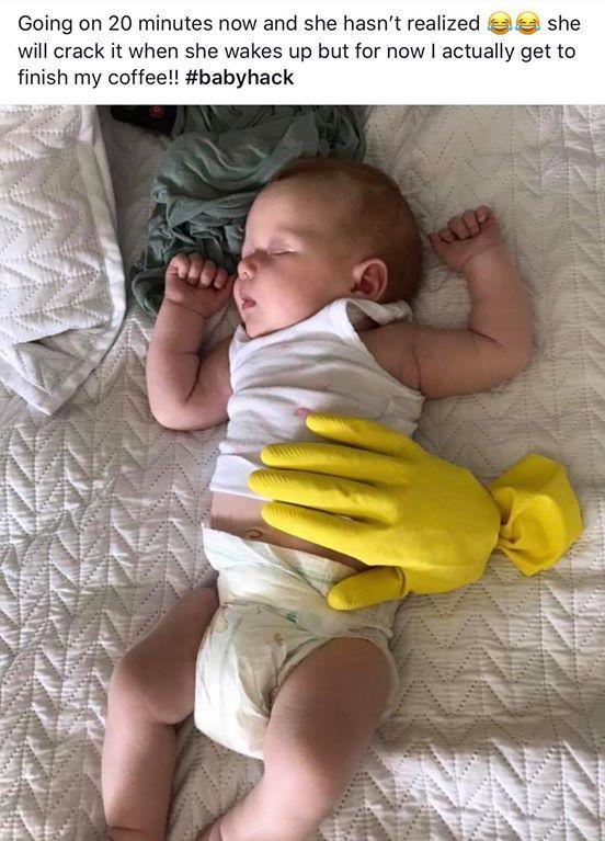 One Mom's Viral Hack for Keeping Baby Asleep is Genius