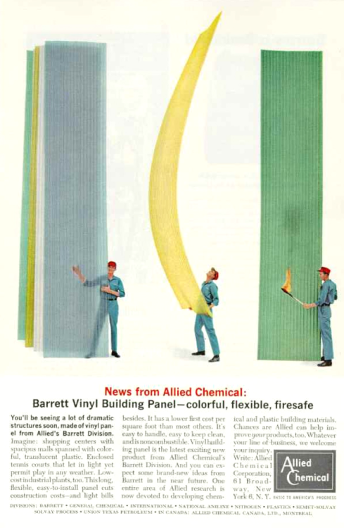 1962 Advertisement for Allied Chemical (With images