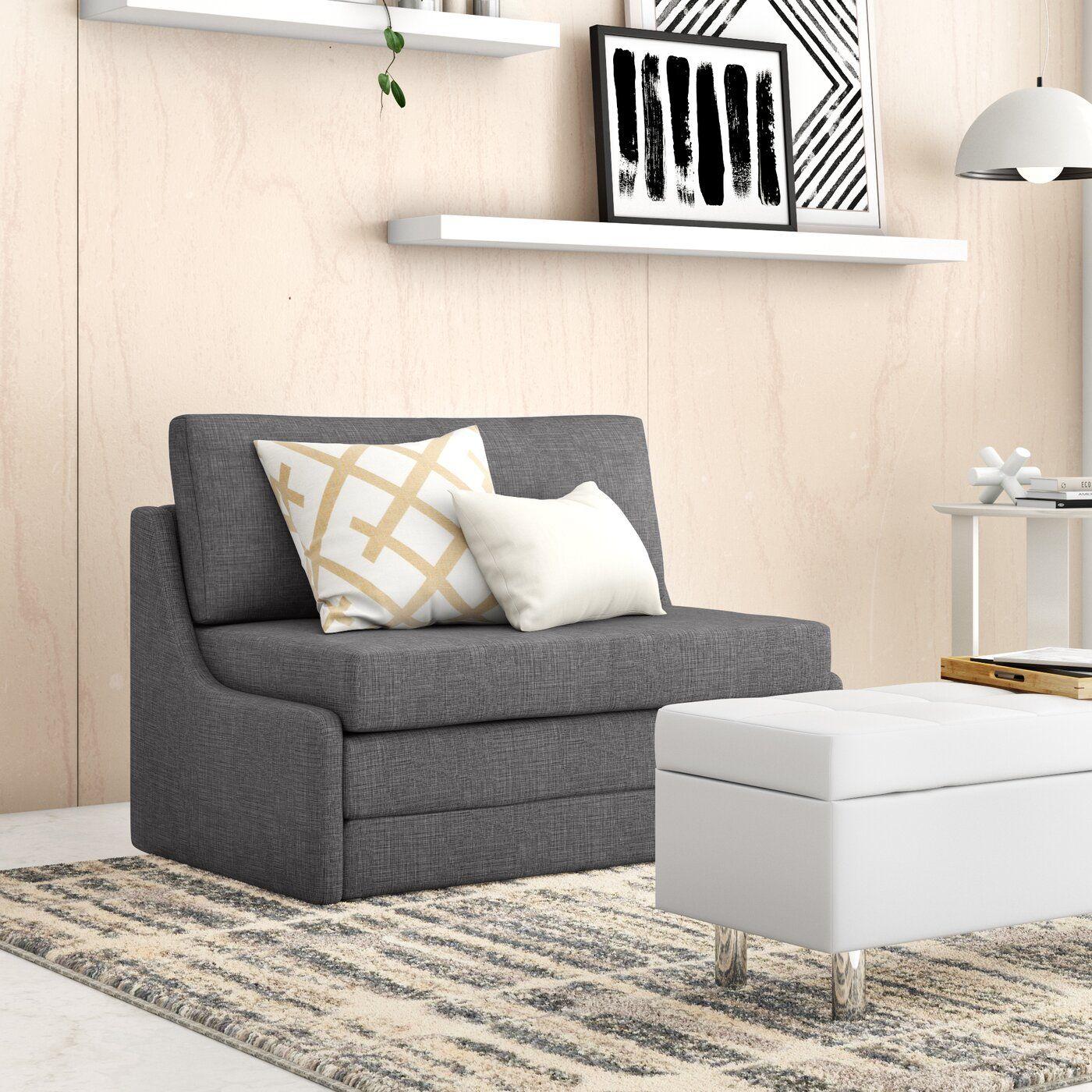 "Sabine 43.31"" Armless Sofa Bed Sofa, Upholstery bed"