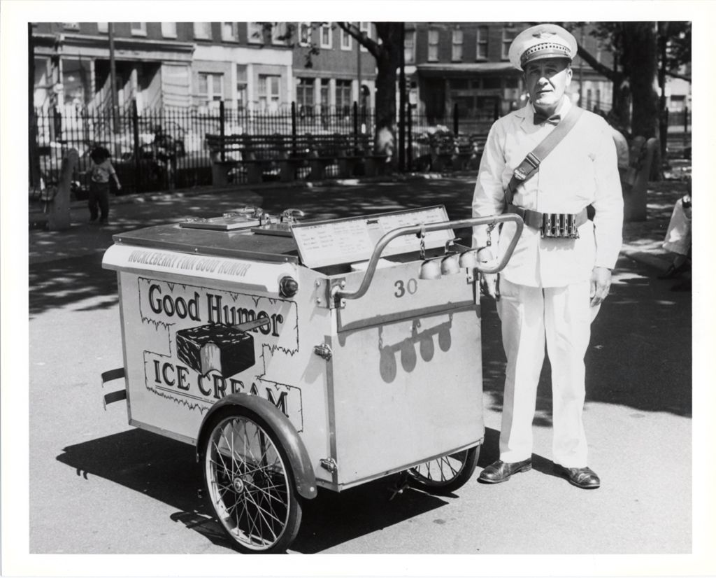 """Good Humor Vendor with Pushcart,"" 1961. Silver gelatin on paper. via @National Museum of American History, Smithsonian"