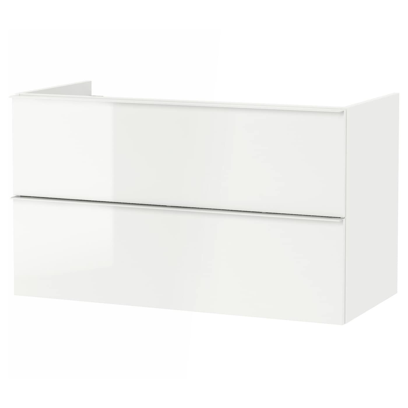 IKEA High Gloss White Sink with 2
