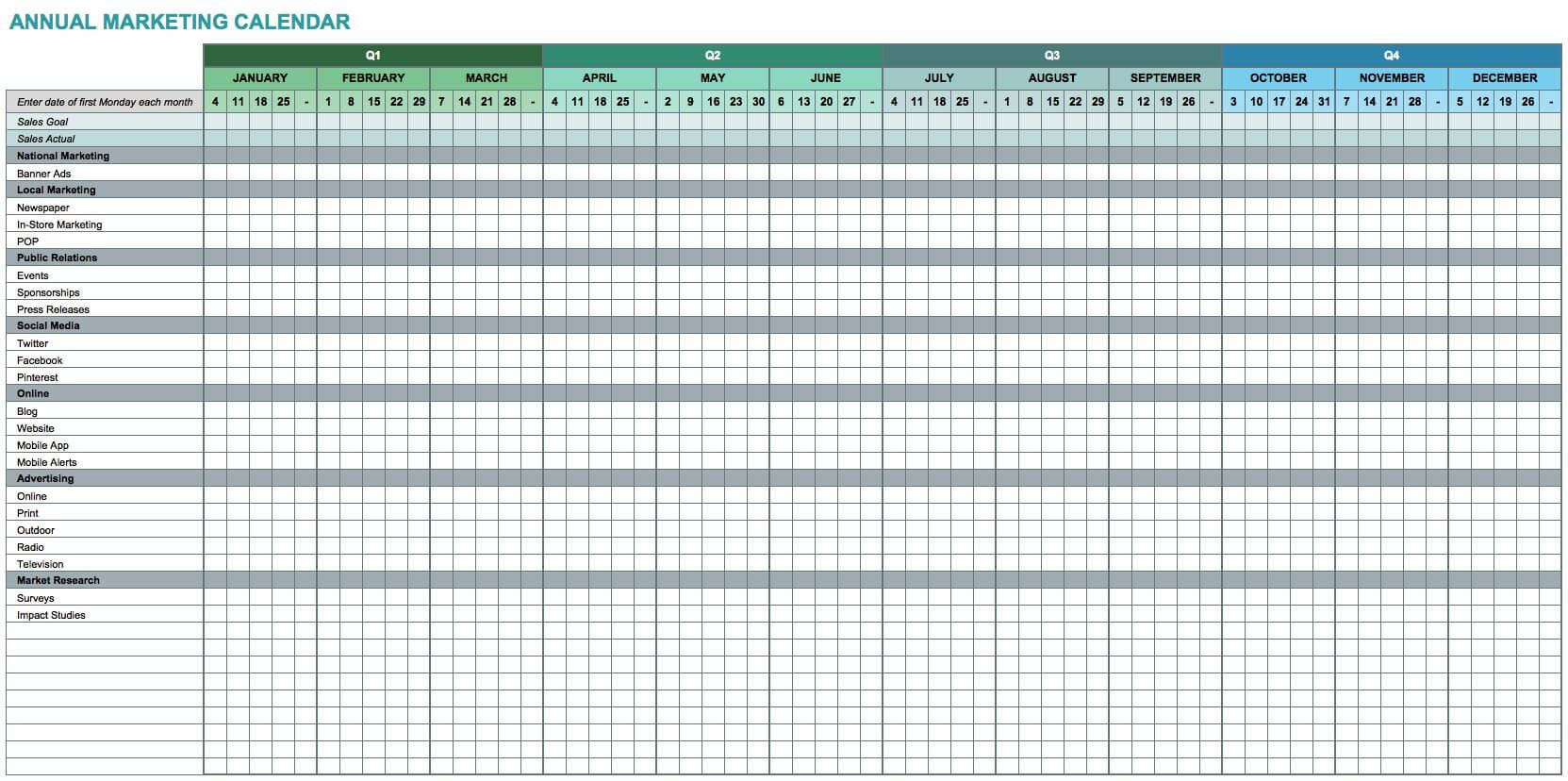 7 Free Excel Templates For Marketers With Images
