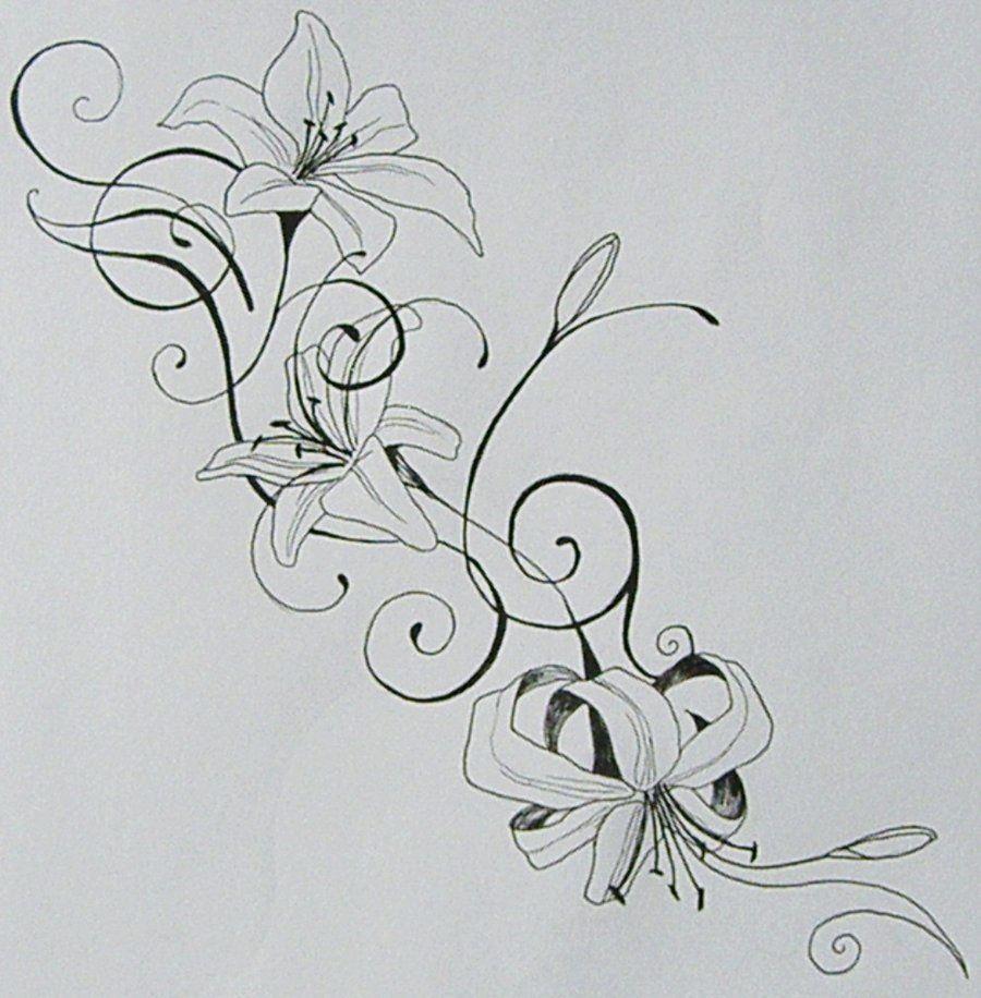 Flower tattoos pinterest flower tattoo and tatoos flower flower tattoo designslily izmirmasajfo Choice Image