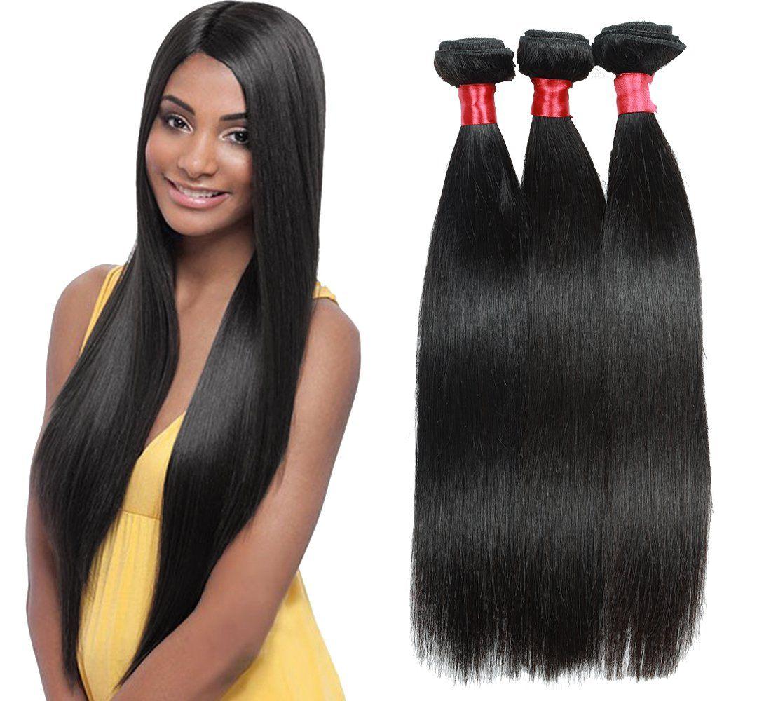 Brazilian Straight Hair Weave 3 Bundles Virgin Human Hair Bundles