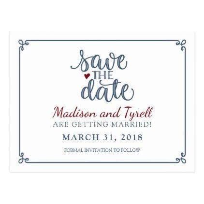 Save the date dusty blue dark red postcard cyo customize save the date dusty blue dark red postcard cyo customize solutioingenieria Images
