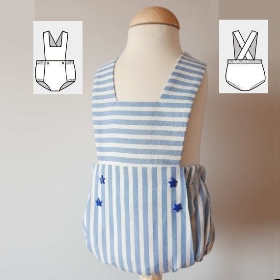 Baby Romper Pattern - Easy Romper Sewing Tutorial PDF 6 months to 3 ...