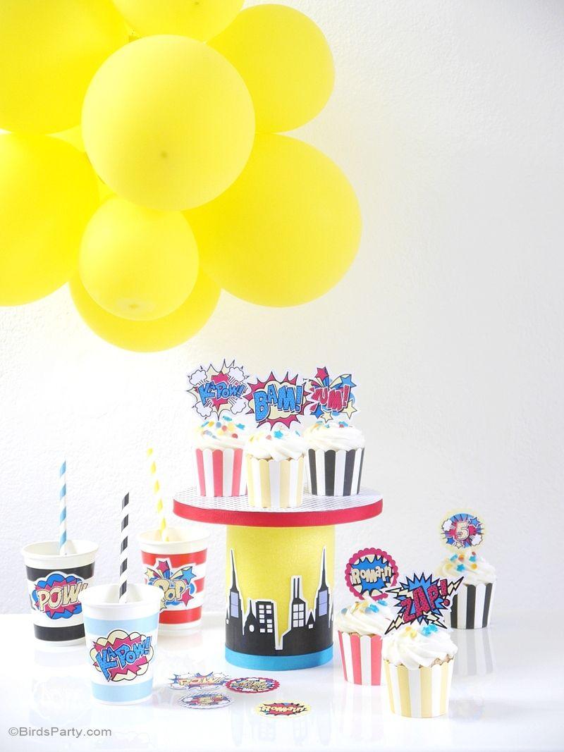 superhero birthday party printables supplies u0026 decorations