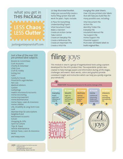 Filing JOYS Home Filing System HOME MANAGEMENT Pinterest