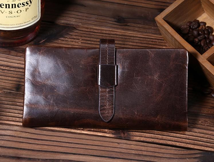 Find More Wallets Information about Men Genuine Leather Wallet Bussiness Long Card Hold Oil wax Real Cow Leather Clutch Coin Purse,High Quality purse,China clutch pressure Suppliers, Cheap purse clutch from Snow Tech on Aliexpress.com