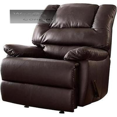 lazy boy big man chair desk comfy brown leather rocker recliner living room barcalounger